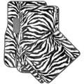 Oxgord Safari Zebra Carpet Car Floor Mats (Set of 4)