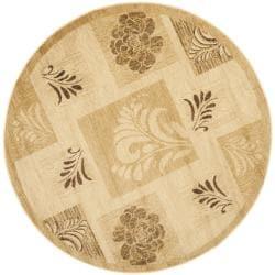 Safavieh Lyndhurst Floral Panels Ivory Rug (5'3 Round)