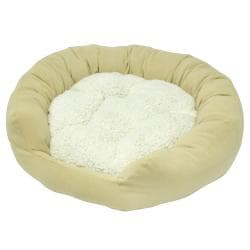Moxy Large Beige Donut Dog Bed