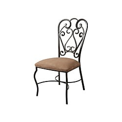 Magnolia Moccasin Suede Dining Side Chair
