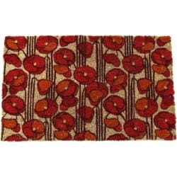 Poppies Non-slip Coir Doormat