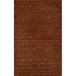 "Loft Links Copper Hand-Loomed Wool Rug (3'6"" x 5'6"")"