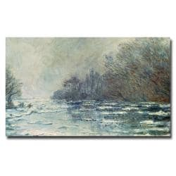 Claude Monet 'The Break up at Vetheuil 1883' Canvas Art
