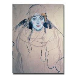 Gustav Klimt 'Head of a Woman' Canvas Art