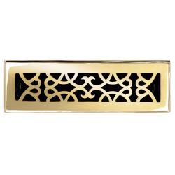 Victorian Lacquered Brass Floor Register
