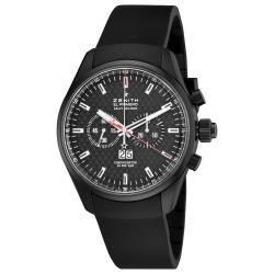 Zenith Men's 75.2050.4026/21.R 'El Primero' Black Dial Black Rubber Strap Watch