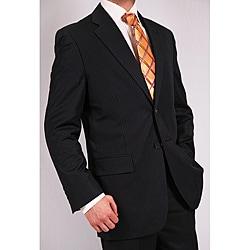 Ferrecci Men's Two-piece Navy Blue Pin Stripe Suit