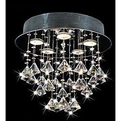 Round Chorus 5-light Chrome Ceiling Chandelier