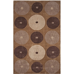 Dynasty Hand-tufted Brown/ Ivory Rug (3'6 x 5'6)