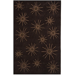 Dynasty Hand-tufted Brown/ Tan Rug (5'9 Round)