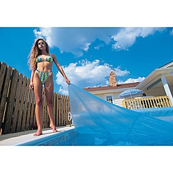 Blue Wave 16 ft. x 32 ft. Rectangular 12-mil Solar Blanket for In Ground Pools - Blue 8869747