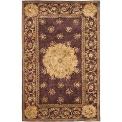 Safavieh Handmade French Aubusson Roinville Red Premium Wool Rug (4' x 6')