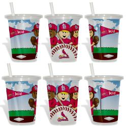 St. Louis Cardinals Sip and Go Cups (Pack of 6) 8873609