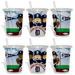 Detroit Tigers Sip and Go Cups (Pack of 6) 8873612