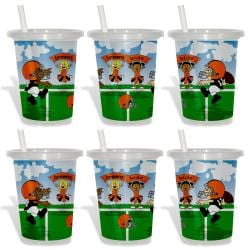 Cleveland Browns Sip and Go Cups (Pack of 6) 8873627