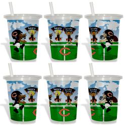 Chicago Bears Sip and Go Cups (Pack of 6) 8873630