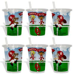 Oklahoma Sooners Sip and Go Cups (Pack of 6) 8873632