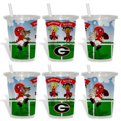 Georgia Bulldogs Sip and Go Cups (Pack of 6) 8873792