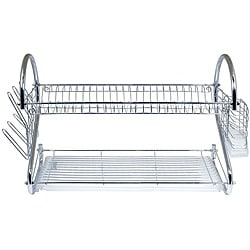 Better Chef 22-inch Chrome Dish Rack with Utensil Holder, Cup Rack and Tray 8874683