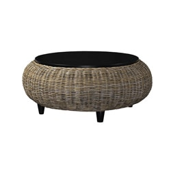 Paradise Ottoman with Wood Top