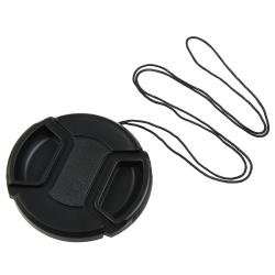 BasAcc 58-millimeter Black Plastic Snap-on Camera/Camcorder Lens Cap