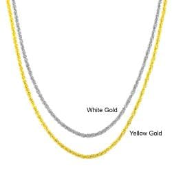 Fremada 10k Gold 1.2-mm Adjustable Sparkle Chain