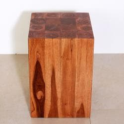 Handmade 12 x 18 Chestnut Oiled Hollow Teak Block (Thailand)