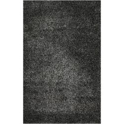 Candice Olson Hand-woven Black Polyester Baer Rug (3'6 x 5'6)