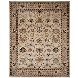Hand-tufted Tempest Beige Area Rug (5 x 8)
