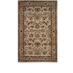 Hand-tufted Tempest Beige Area Rug (4 x 6)