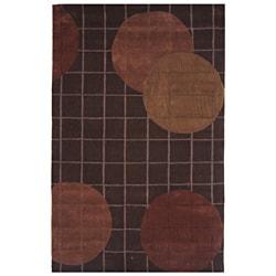 Hand-tufted Dynasty Brown Area Rug (2'6 x 8'0)