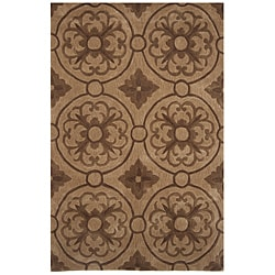Hand-tufted Dynasty Brown Rug (5'0 x 7'9)