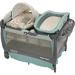 Graco Pack 'n Play with Cuddle Cove Rocking Seat in Winslet (As Is Item)