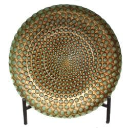 Casa Cortes Hand-painted Pearl Artisan Glass Decorative Plate with Stand (As Is Item) 23480864