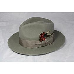 Ferrecci Kid's Grey Green Wool Fedora Hat