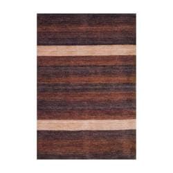 Indo Hand-knotted Tibetan Terracotta Wool Rug (4' x 6')
