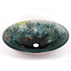 Crackle Design Glass Vessel Sink (As Is Item) 31410921
