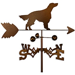 Handmade Irish Setter Dog Copper Weathervane