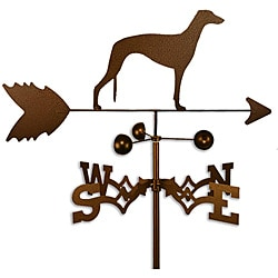 Handmade Greyhound Dog Copper Weathervane