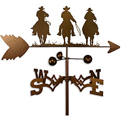 Handmade Three Amigo Cowboys Weathervane
