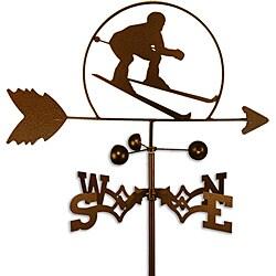 Handmade Downhill Skier Skiing Weathervane