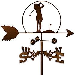 Handmade Female Golfer Weathervane