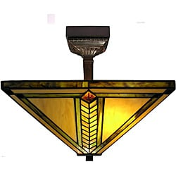 Warehouse of Tiffany Yellow Gold Mission Ceiling Lamp