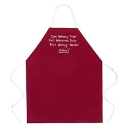Attitude Aprons 'One Winery Tour' Red Apron
