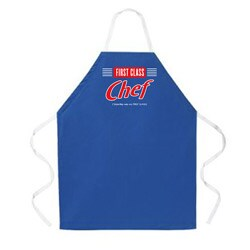 Attitude Aprons 'First Class Chef' Blue Apron