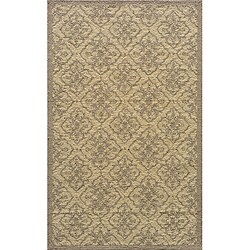 Indoor/ Outdoor South Beach Taupe Diamonds Rug (2' x 3')