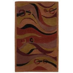 Nourison Hand-tufted Dimensions Rust Rug (1'9 x 2'9) - 1'9 x 2'9 8920702
