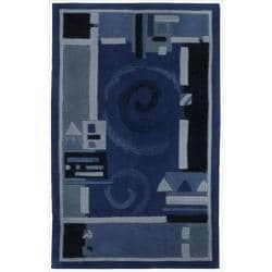 Nourison Hand-tufted Dimensions Blue Rug (1'9 x 2'9) - 1'9 x 2'9 8920704