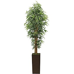 Laura Ashley 7-foot High End Realistic Silk Bamboo Tree with Planter