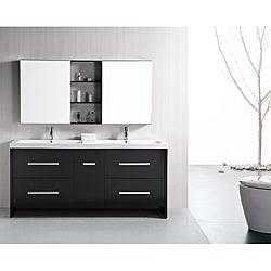 Design Element Perfecta Modern 72-inch Doublesink Bathroom Vanity Set